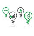 Environment green icons vector