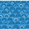 Doodle sea waves seamless pattern vector
