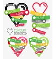 Social like heart infographic tags vector
