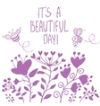 Beautiful flowers silhouette vector