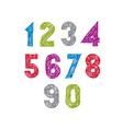 Contemporary handwritten digits numerals vector