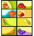 Fruit card vector