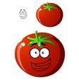 Ripe red cartoon tomato vector