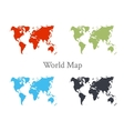 World map set in different color vector