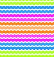 Wave green pink orange blue background seamless vector