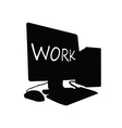 Computer work black vector