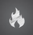 Fire sketch logo doodle icon vector