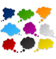 Set of paper color clouds vector