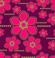Seamless lily flower vector