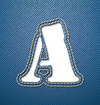 Denim jeans letter a vector