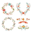 Floral easter wreaths vector
