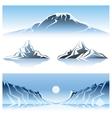 Winter mountains graphic design vector