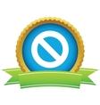 Gold sign ban logo vector