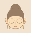 Buddha statue head vector