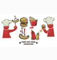 Funny american fast food vector