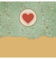 Vintage valentine hearts card vector