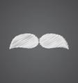 Mustache sketch logo doodle icon vector