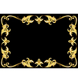 Abstract gold frame vector