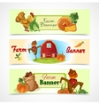 Farm banners set vector