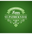 Typography st patricks day vector