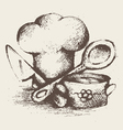 Vintage cooking utensils vector