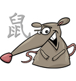 Rat chinese horoscope sign vector