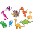 Collection of dinosaurs vector