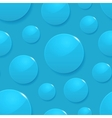 Rain drops on blue seamless background vector