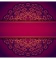 Purple invitation with lace floral ornament vector