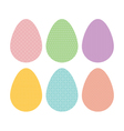 Patterned eggs pastel vector