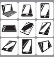 Smartphone and tablet icons set vector