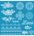 Set of lace ribbons flowers vector