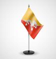 Table flag of bhutan vector