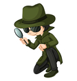 A smart young detective vector