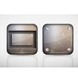 Steel metal app icons vector