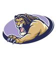 Lion mascot scratching vector