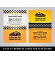 Business card - cab vector
