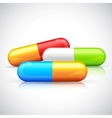 Colorful capsule vector