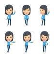 Universal characters in different poses reception vector