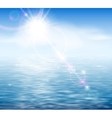Sunshine by the sea vector