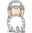 A sheep standing on a white background vector