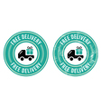 Free delivery retro grunge badge vector