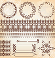 Set of abstract baroque pattern vector