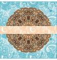 Ornamental floral pattern vector