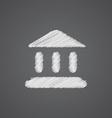 Tribunal sketch logo doodle icon vector