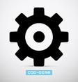Cog - gear icon vector