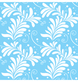 Winter ornamental floral seamless pattern light bl vector