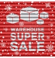 Winter warehouse super sale vector