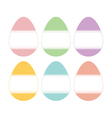 Lace banner egg vector