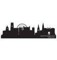 Nottingham england skyline detailed silhouette vector